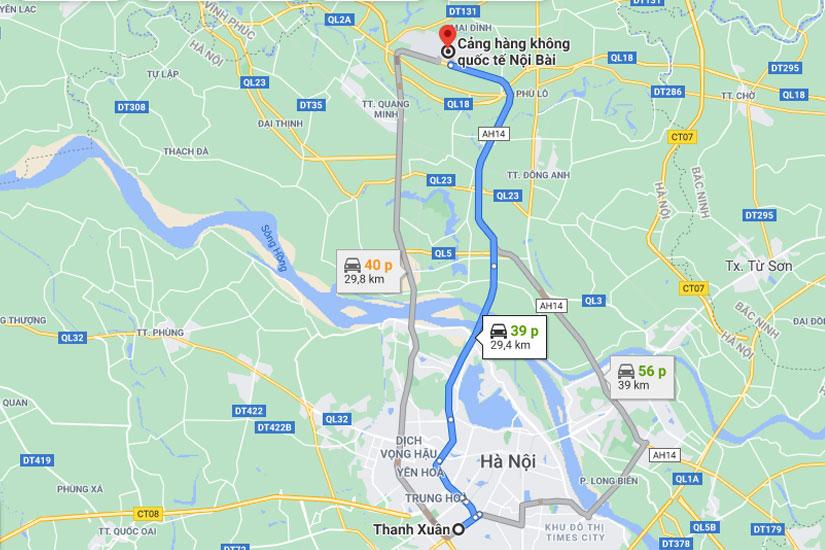 Taxi Nội Bài Về Quận Thanh Xuân